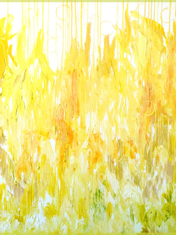 """""""effervescent citrus"""" oil on canvas, 72x60in - $12,500"""