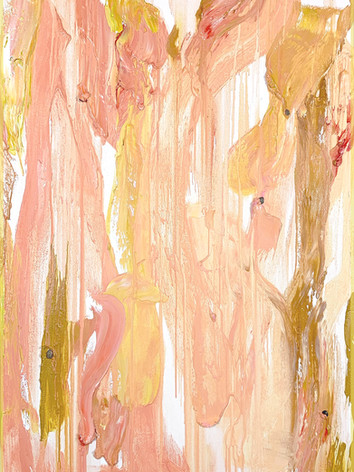 """""""fragrance of blooming roses + almond silk + pearlescent peach + garda olive influence"""" oil on canvas, 100x70cm - $4500"""