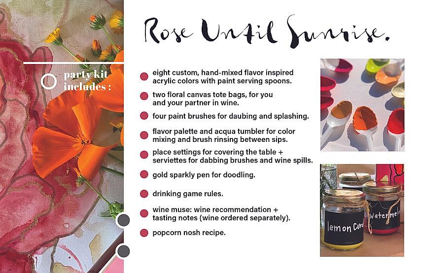 Rose Until Sunrise Party Kit (5.5x8.5 bo