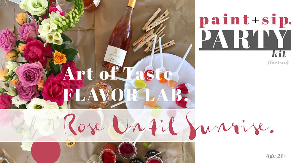Adult Drinking Game: Combining Art and Wine for a Paint and Sip Wine Tasting Experience | Home Party Kit for Wine Lovers. 21+ Just Add Wine and your Sip Mate! Party Kit for Two Materials Included (Wine Sold Separately).