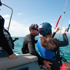 Cours de kitesurf avancé et perfectionnement en pleine eau