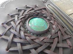Leather utility Belt+Festival Belt+Chrysocolla+Sibo Yanke