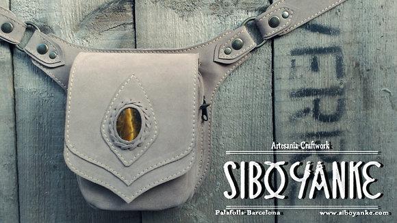 Leather utility Belt - Festiva Belt Tiger Eye Gemstone -Sibo Yanke.jpg