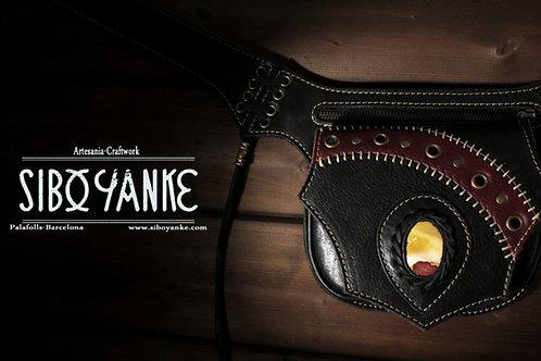 Leather utility Belt+ Festival Belt+ Hip Blt+ waist bag+mokaite+gemstones