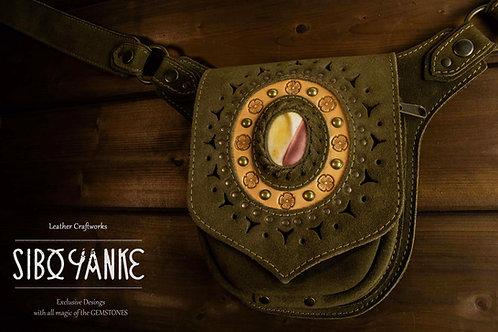 Leather Utility Belt - Festival Belt - Leather Hip Belt - Waist Bag-Hip Bag- Belt Bag