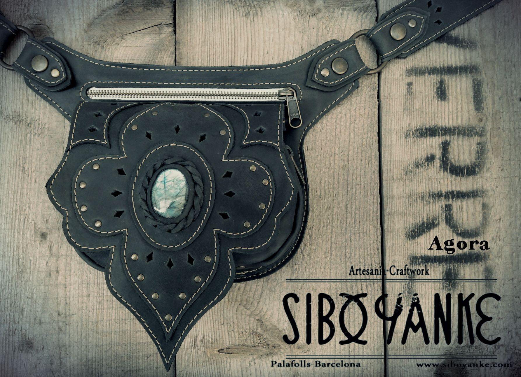 Leather Utility Belt + Festival Belt + Labradorite+Gemstones+Sibo yanke (3)