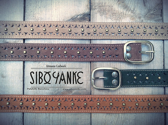 Leather Belt - Hip Belt - Boho Belt - HANDMADE blow by blow