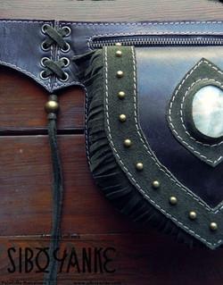 Leather UtilityBelt+FestivalBelt+LeatherFestivalBelt+Chrysocolla+Belt