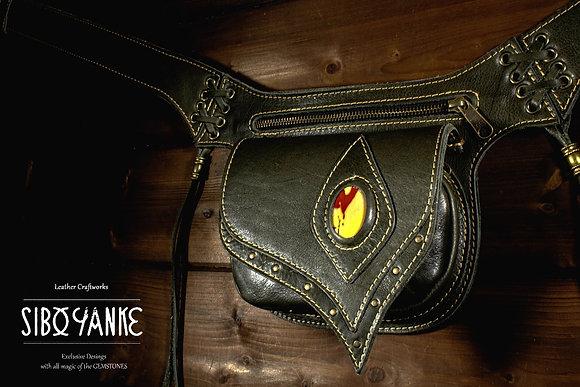 Leather Utility Belt+Festival Belt+LABRADORITE+Hip Belt+Waist Bag+Hip Bag+Belt Bag
