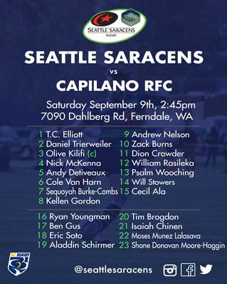 New Season Kicking off Sat 9th September!