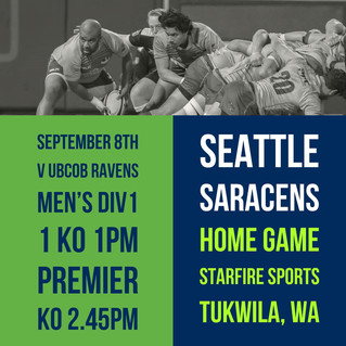 Seattle Saracens Opening Home Game at Starfire Sports Stadium