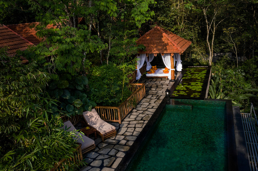 Earthitects Stone Lodges - Pool Deck