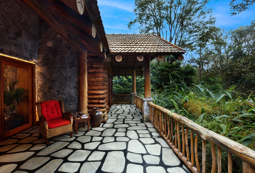 Earthitects Stone Lodges - Balcony
