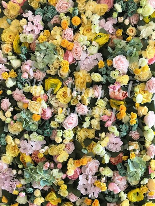 The zoe flower wall wedding event decor solutioingenieria Choice Image