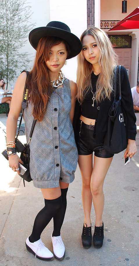 Millenial fashions in Street Style L.A.