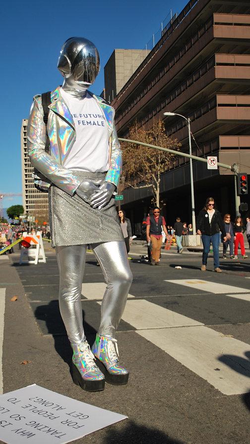 Women's March street style.