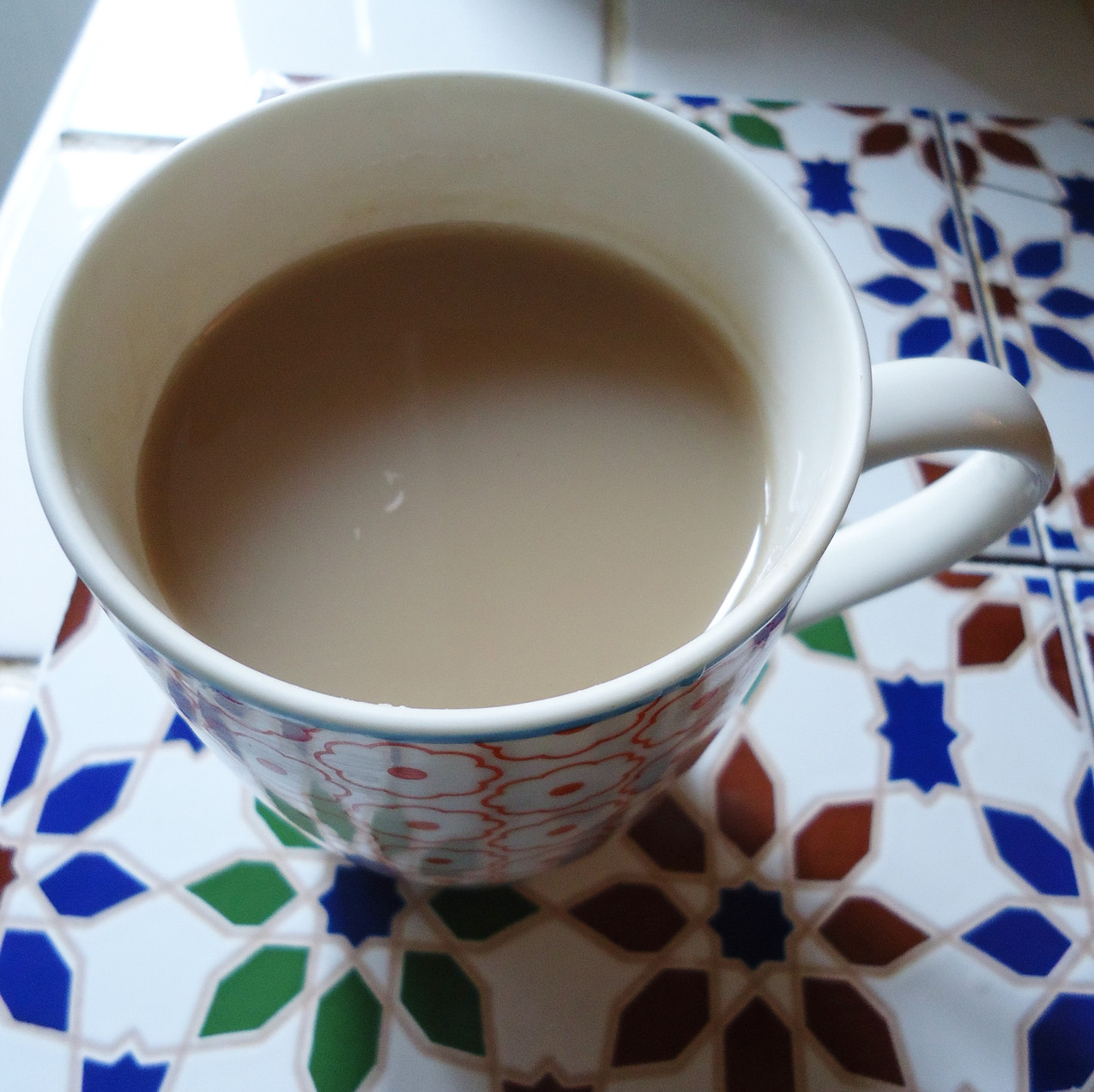 A cup of 'Typhoo' tea.