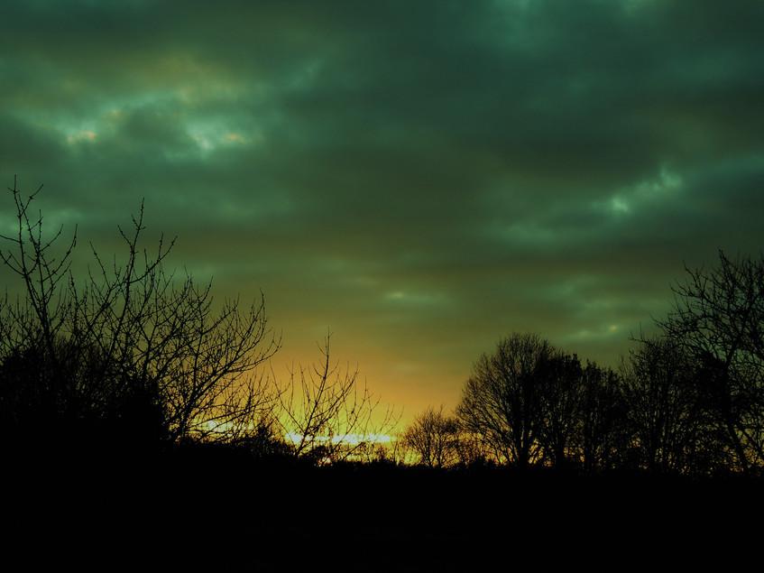 Photo of sunset sky.
