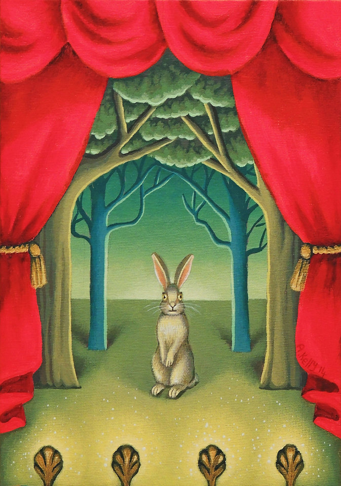 rabbit on a stage