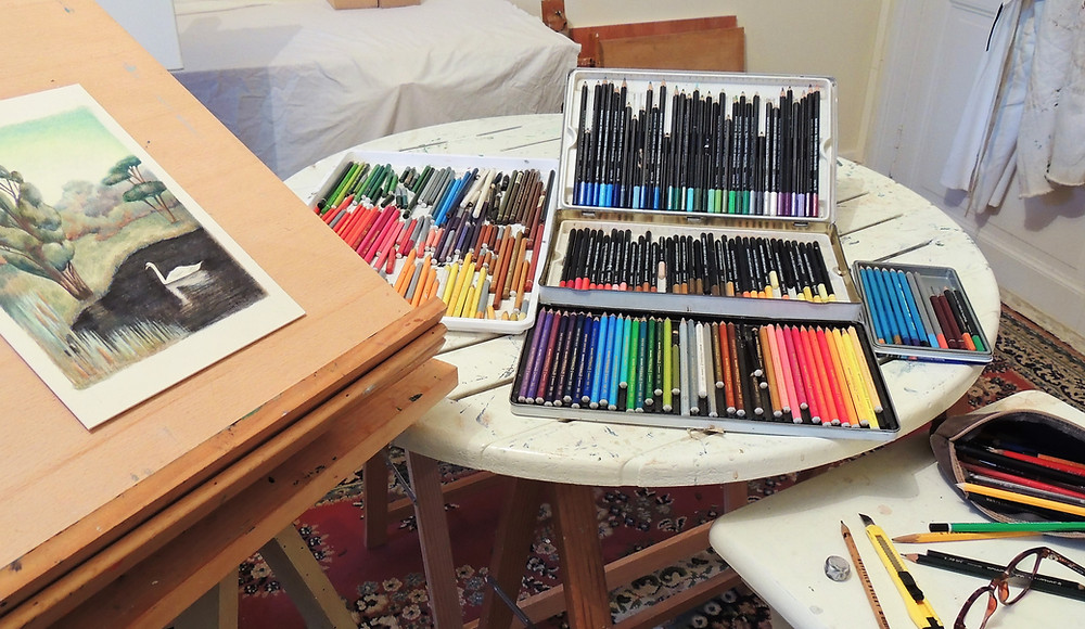 My selection of coloured pencils.