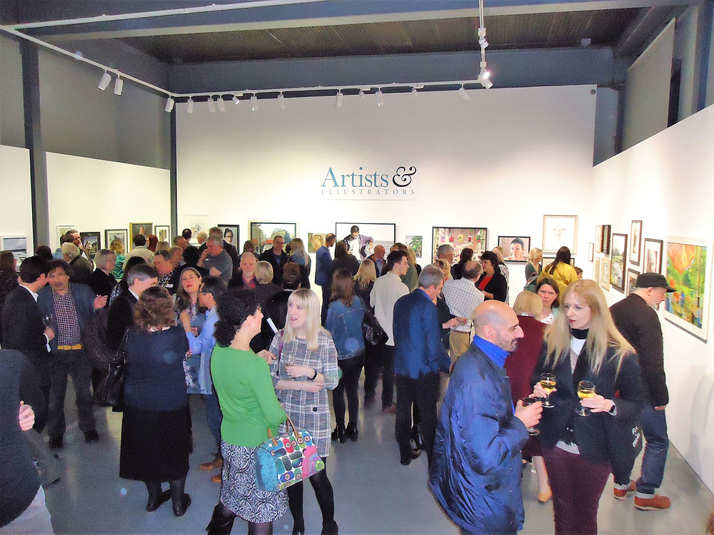 Private view getting into full swing!