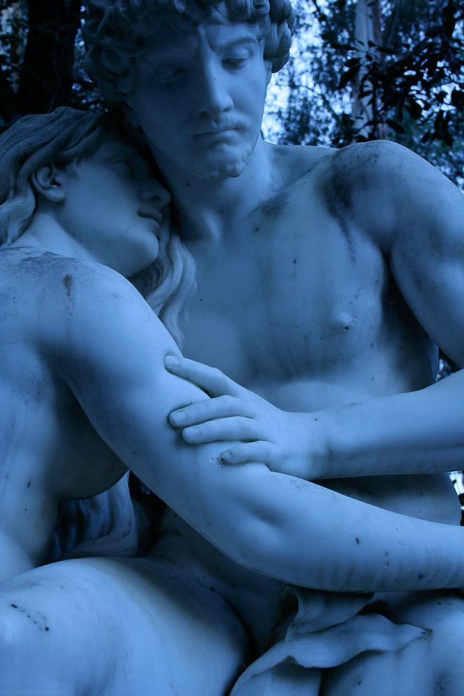 Blue hushed embrace