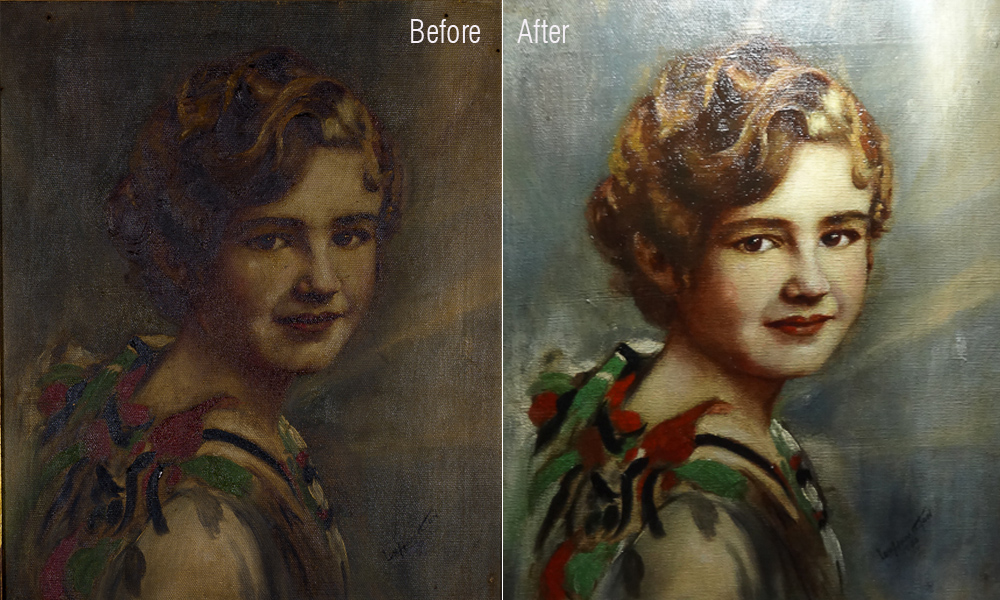 Grandmother Before and After