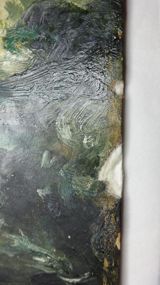 Close up during repair