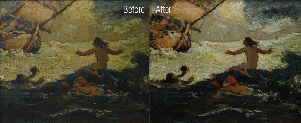 Lorelei before and after