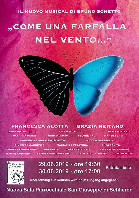 """Musical """"COME LE FARFALLE NEL VENTO.."""" di Bruno Sonetto"""