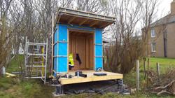 Woodland garden room construction