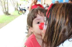 Criança assistida na AACD