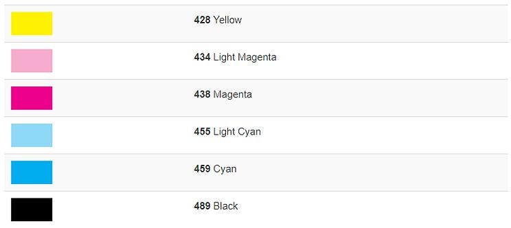 atrament MArabu DI-V karta kolorów