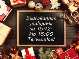 Seurakunnan joulujuhla 15.12. klo 16:00