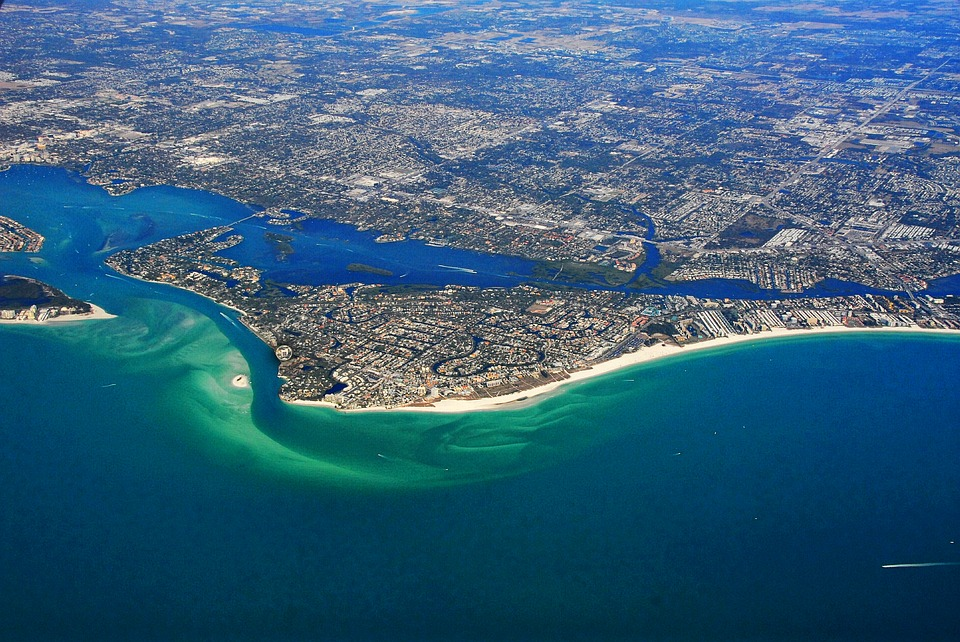 Coast line of Siesta Key