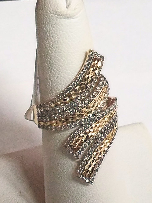 14KT Two Tone Cluster Ring