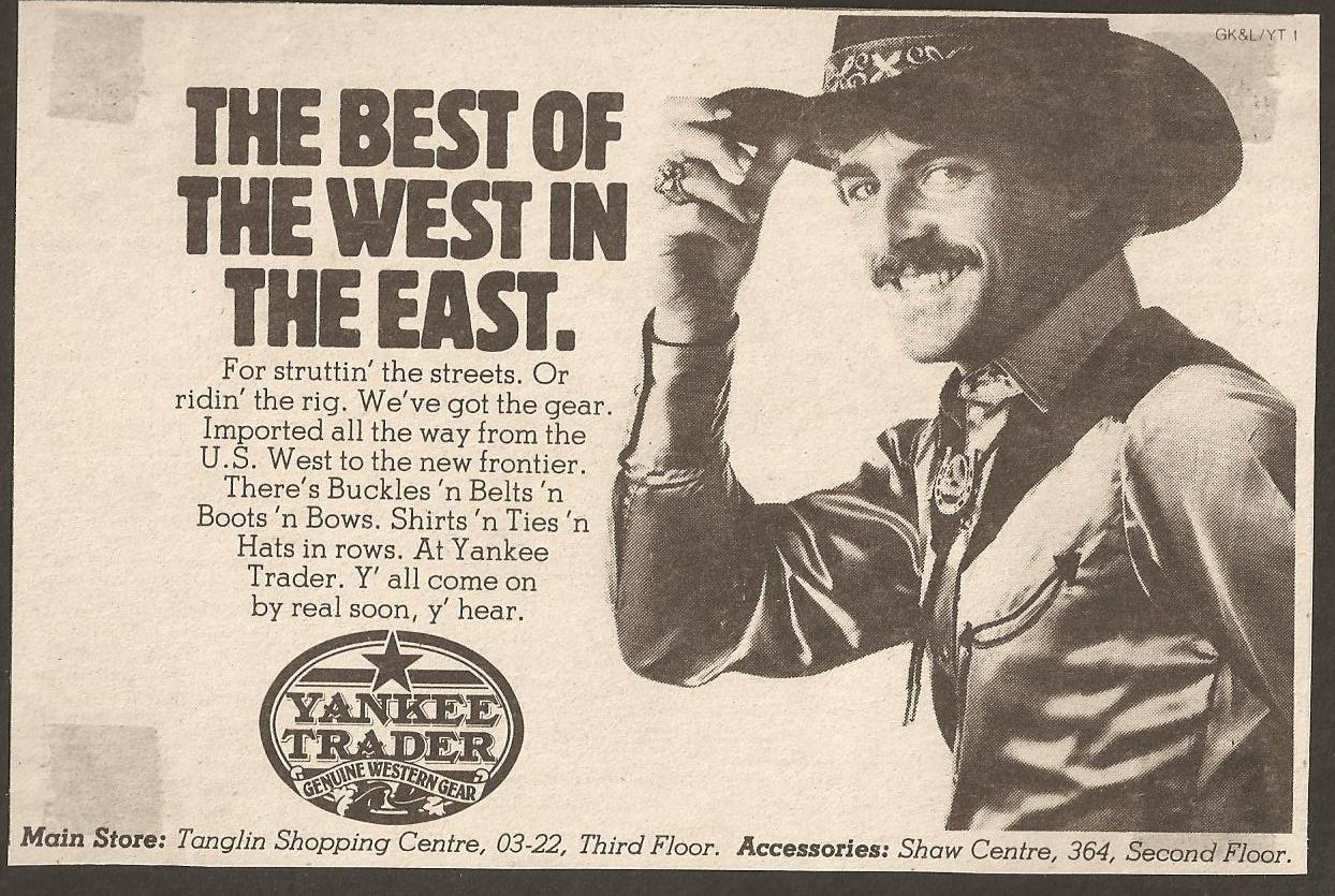 Advertising Western Wear