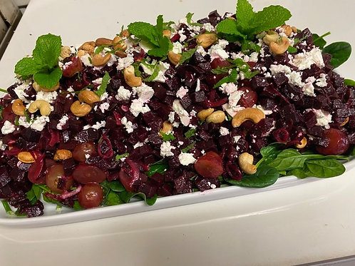 Medium diced beetroot salad