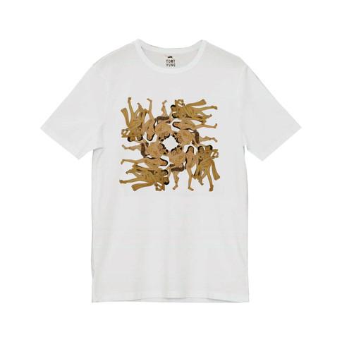 Digital printed white T-shirt