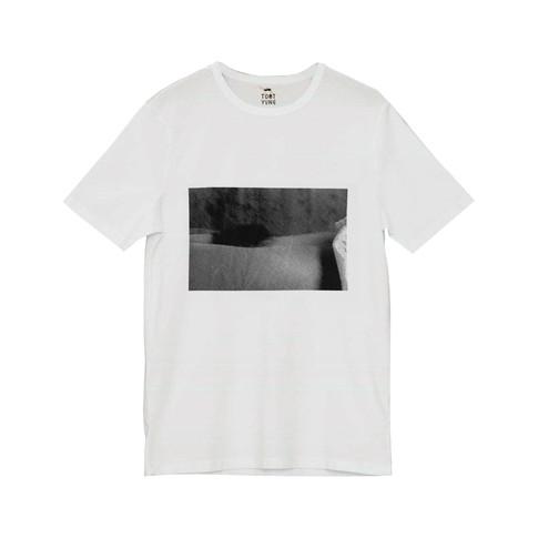 Silkscreen white T-shirt