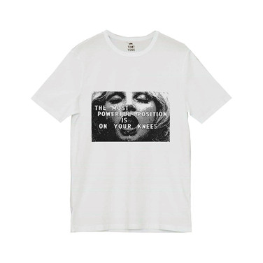 Silkscreen white T-shirt