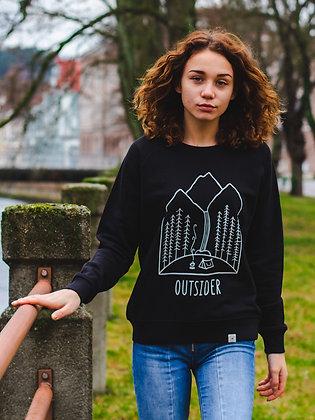 Dámský crewneck Outsider - černý