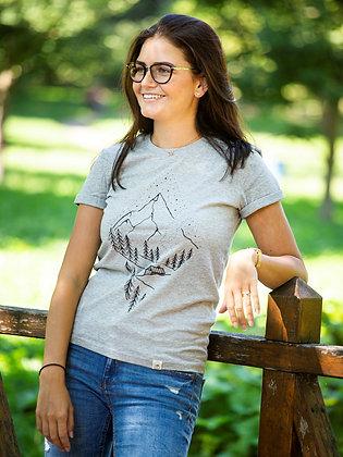 Dámské tričko Pure nature - šedé