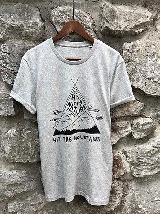 Zachraňte dámské tričko Hit the mountains - šedé