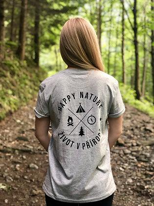 Dámské tričko Život v přírodě - šedé