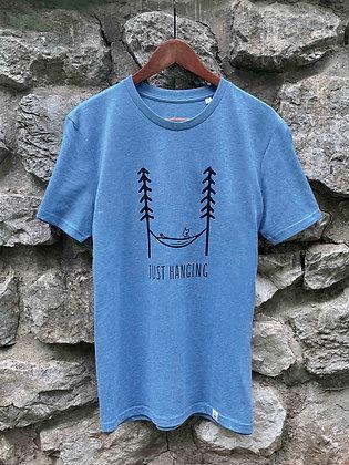 Zachraňte pánské tričko Just hanging - modré
