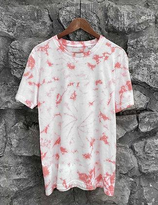Pánské tričko batikované - růžové