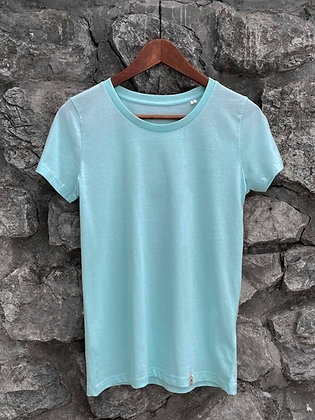 Dámské tričko bez potisku - tyrkysové