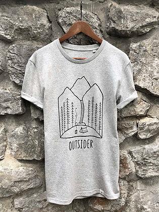 Dámské tričko Outsider - šedé