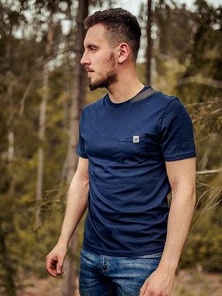 Pánské tričko s kapsičkou - modré